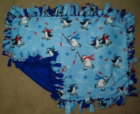 Making Fleece Baby Blankets With Knots Fleece Baby Blanket Patterns