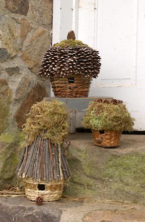 Simple bird feeders and houses for Diy stone birdhouse